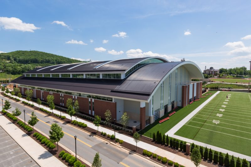 Indoor Football Practice Facility At Liberty Metal