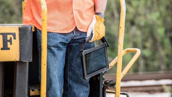 Tablet keeps construction records