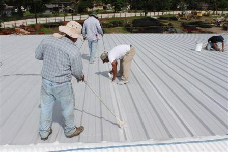 Baumann Contends A White Elastomeric Acrylic Coating Can Reduce The  Temperature On A Metal Roof By As Much As 50 F And Lower Indoor  Temperatures By As Much ...