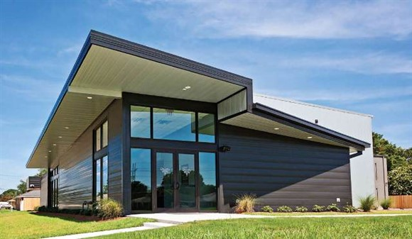 Mcn mcn awards metal building addition for Modern steel house