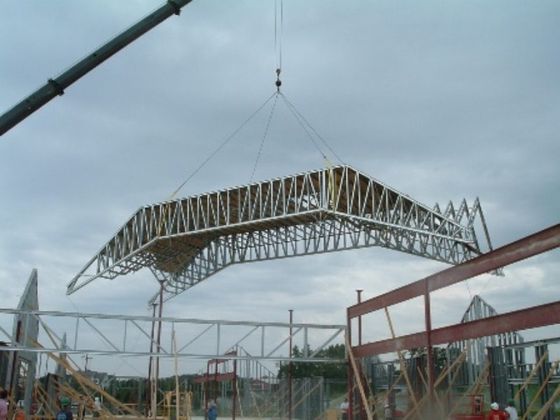 Long Span Metal Truss Installation Metal Construction News