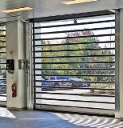 Rollup Doors Feature Windows With Lexan Metal