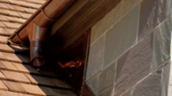 Green rainwater: U.S.-made European-style copper or zinc rainwater systems are the way to go