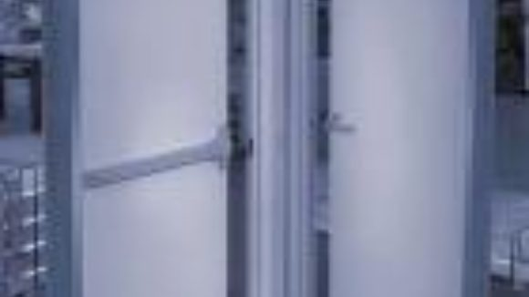 Doors hinge on heavy steel
