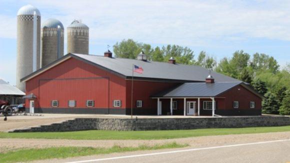 Office and Farm Equipment Garage, Hoffman, Minn.
