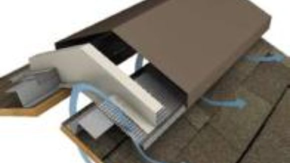 Ridge vent reduces installation