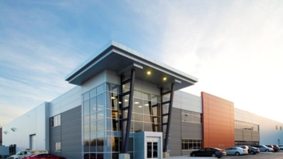Metal panels clad food processing plant
