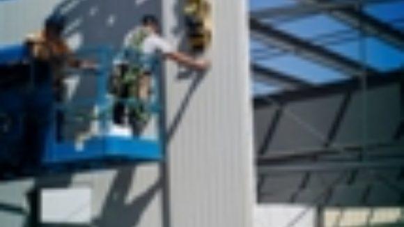 Lifter maneuvers panels