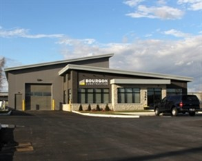Bourgon Construction built its 7,000-square-foot office and warehouse with a pre-engineered metal building supplied by American Buildings Co.