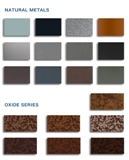 ATAS International Inc.'s Oxide Series of metal cladding finishes are designed to look like weathered steel with a rust-like appearance.