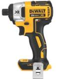 DEWALT Industrial Tool's 20V MAX XR Lithium Ion Brushless 1/4-inch Impact Driver model DCF886B features a brushless motor that delivers up to 57 percent more run time than a brushed motor and three LEDs with a 20-second delay after trigger release to provide visibility.