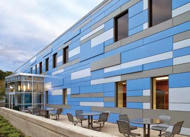 Multi Colored Panels Cure Office Metal Construction News