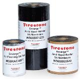 Firestone Building Products' Enverge Air and Vapor Barrier SA Membrane self-seals around mechanical fasteners to minimize gaps, and foil flashing tape can be used.