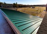 Garland's R-Mer Loc architectural and structural standing seam roof system has an 18-gauge, one-piece concealed clip design that accommodates thermal movement.