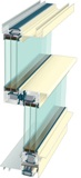 Kawneer Co. Inc.'s OptiQ Ultra Thermal Window AA5450 Series is available in a horizontal sliding configuration.