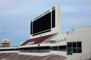 More than 30,000 square feet of Kingspan Insulated Panels Inc.'s BENCHMARK Designwall 2000 Horizontal 2-inch-thick insulated metal panels (IMP) with a smooth finish were installed on Davis Wade Stadium at Mississippi State University to complement existing campus architecture.