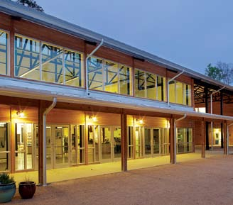 The 29,656-square-foot North Carolina Botanical Garden Education Center, a unit of the University of North Carolina at Chapel Hill, features MBCI's BattenLok HS standing seam roofing system in Galvalume Plus and is LEED Platinum certified.