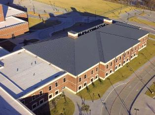 Independence High School was designed with metal panels for aesthetics and to minimize views of rooftop equipment.