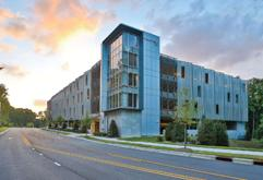 Morin Corp., a Kingspan Group company, supplied approximately 20,000 square feet of MR-36S stainless steel perforated screened wall panels for a parking deck at Wake Technical Community College North Campus, completed in July 2012.