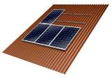 Mounting Systems' Tau + is a system for mounting solar modules on trapezoidal sheet metal roofs.
