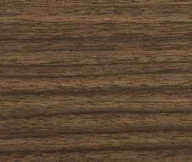 Pure and FreeForm LLC's Roma Noce metal finish mimics a rift cut, dark Italian walnut wood.