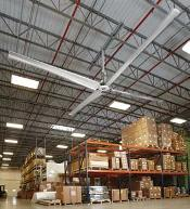 Rite-Hite's Revolution HVLS Fan has custom aluminum blades that incorporate tilt, taper and twist engineering to provide consistent airflow across the entire length of the blade.