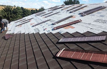 Mcn inspection installation drive roof over success for Synthetic roofing materials