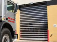 Rytec Corp.'s Spiral Door has an opening speed of 60 inches per second and its rollup design features no metal-to-metal contact for quiet operation.