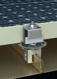 S-5!'s PV Kit's DirectAttached installation solution for standing seam metal roofs automatically provides a grounding path for the module frame with its ETL-1703 and UL- 2703 listed stainless steel mounting disk.