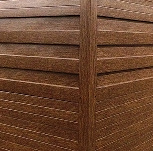 Steelscape's Woodgrain prints specialty finishes include Red Cedar, Driftwood, Rustic, Camo, Slate, Composite, Metallic and Granite.