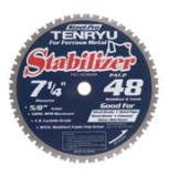 Tenryn America's Steel-Pro STABILIZER series stabilizes the blade in the cut with less vibration during operation, producing cleaner cuts. Saw blade available with 7 1/4-, 8-, 8 1/4-, 12- and 14-inch diameters.