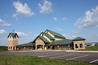 Crafton, Tull and Associates Inc. designed a worship center at Oklahoma District Council of the Assemblies of God's youth camp in Sparks, Okla., as a country-style church utilizing a pre-engineered metal building system supplied by Varco Pruden Buildings.